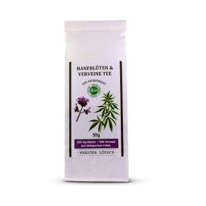 Bio Hanfblüten und Verveine Tee
