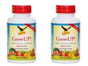 2 Dosen GrowUP! Kinder Multi Vitamin & Mineral KauBar