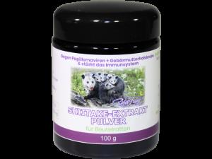 Shiitake – Extrakt Pulver – für Beutelratten – 100g