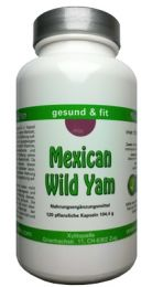 Mexican Wild Yam Kapseln, ganze Wurzel, 100% natür