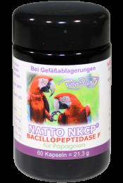 Natto NKCP® – Bacillopeptidase F – Für Papageien – 60 Kapseln
